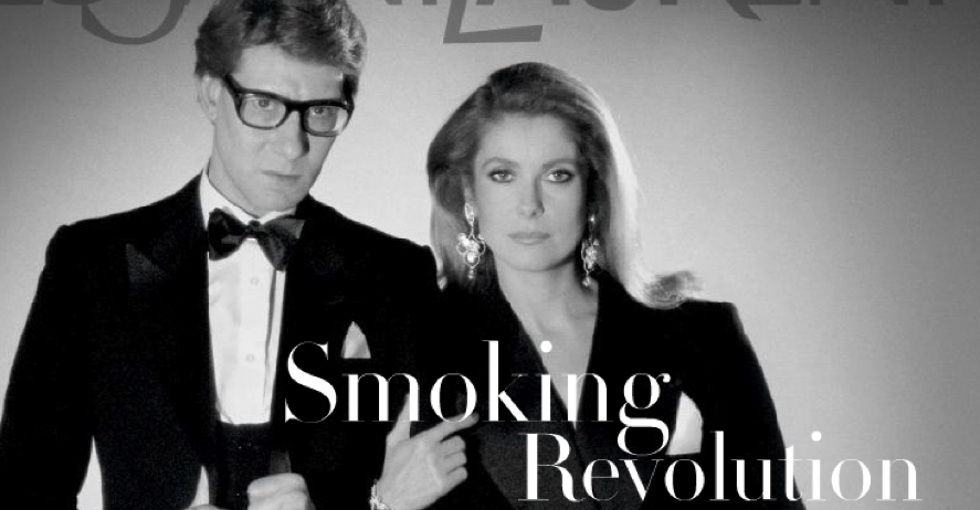Yves Saint Laurent_Catherine Deneuve_Smoking_Tuxedo