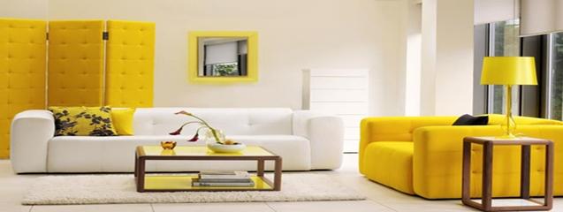 Decoraci n de interiores en color amarillo blog de dsigno for Donde se estudia diseno de interiores