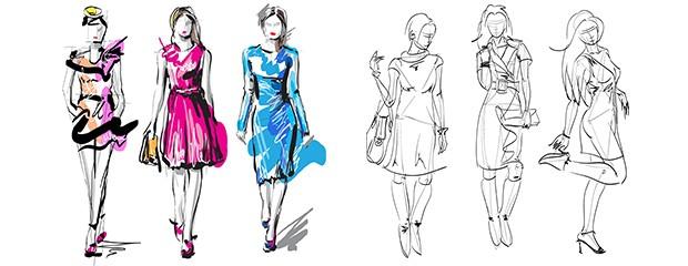 Dibujo de figurines para el dise o de moda dsigno blog for Dibujos de disenos de moda