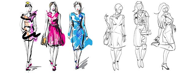 Dibujo De Figurines Para El Diseño De Moda Dsigno Blog De Dsigno