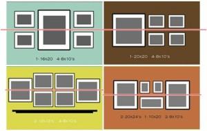Trucos para colgar cuadros con estilo blog de dsigno - Como decorar la pared del cabecero de la cama ...