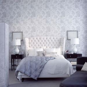 idea-decoración-dormitorio-papel-pintado, romántico