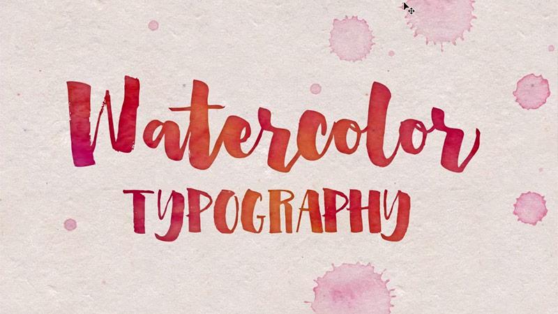 Tipografía watercolor ventajas y ejemplos de dsigno