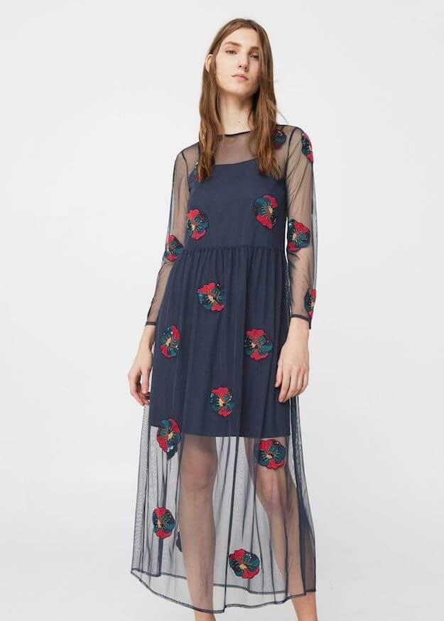 tendencia vestido transparante
