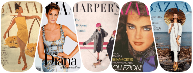 collage harper's bazaar
