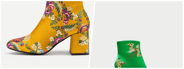 botines calcetín bordados