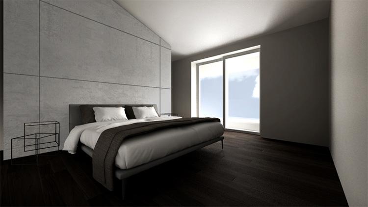 Dormitorio grises