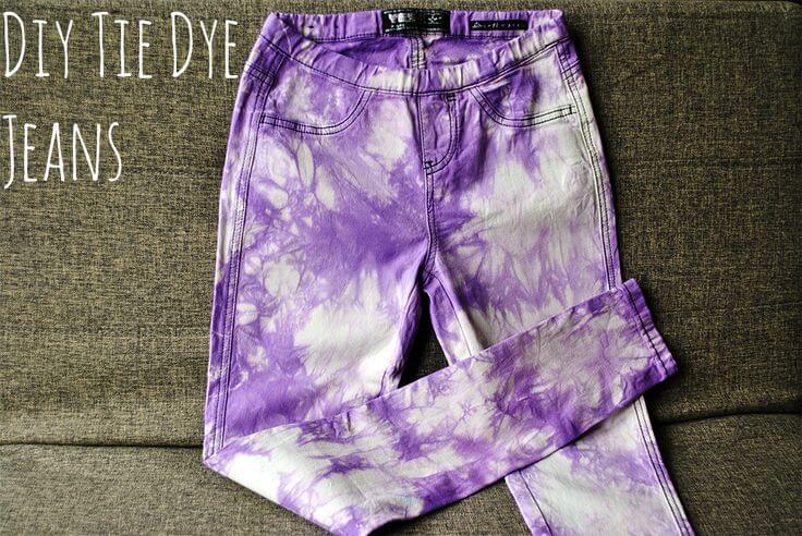 Jeans estampado tie dye