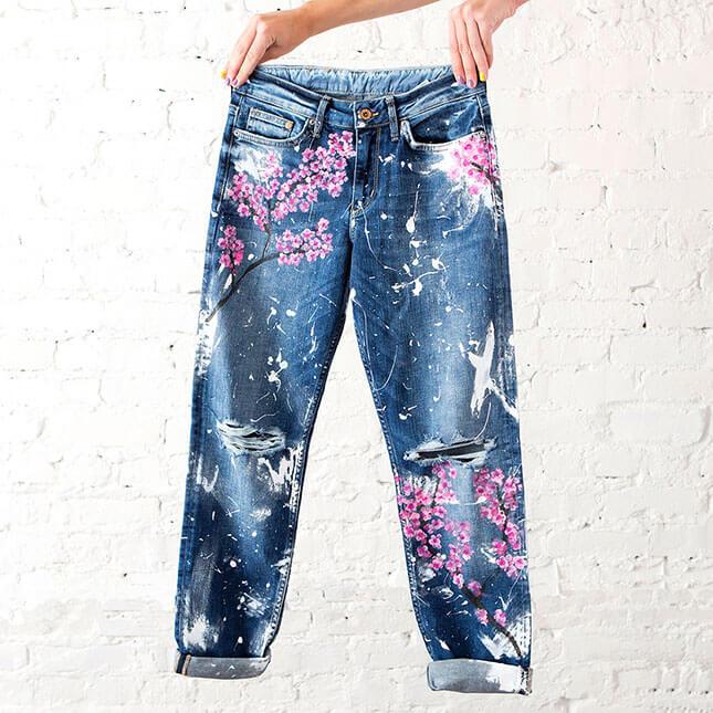 jeans pintados DIY