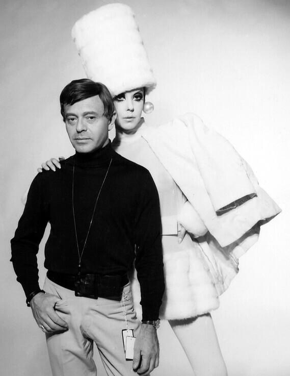 Rudi Gernreich y Peggy Moffitt.