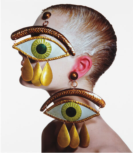 irving-penn-gaultier-eye-earrings