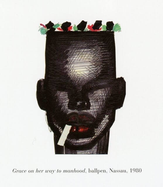 ilustración de paul-goude-grace-jones