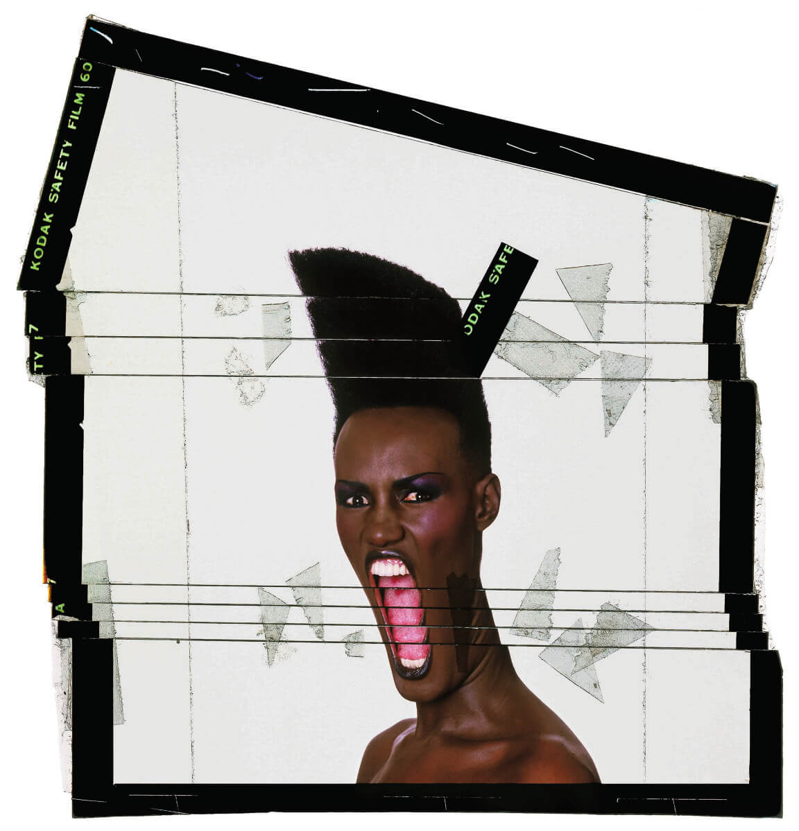 grace jones - negativos cortados--paul-goude