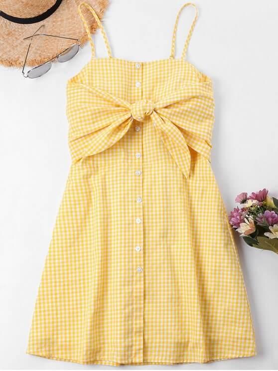 vestido cuadros Vichy