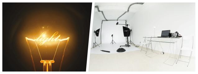 collage- fotografía y luz