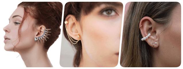 collage ear cuff