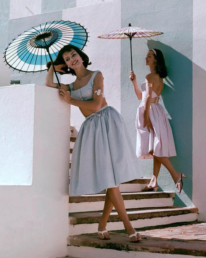 two-models-posing-with-parasols-frances-mclaughlin-gill