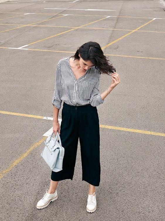 pantalones culottes
