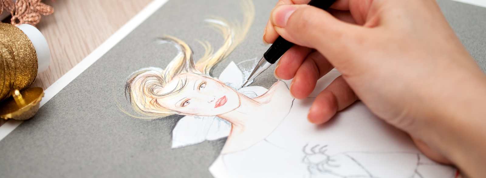 Curso de Dibujo de Moda. Dibujo de Figurín